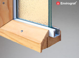 Intumescent glazing channels