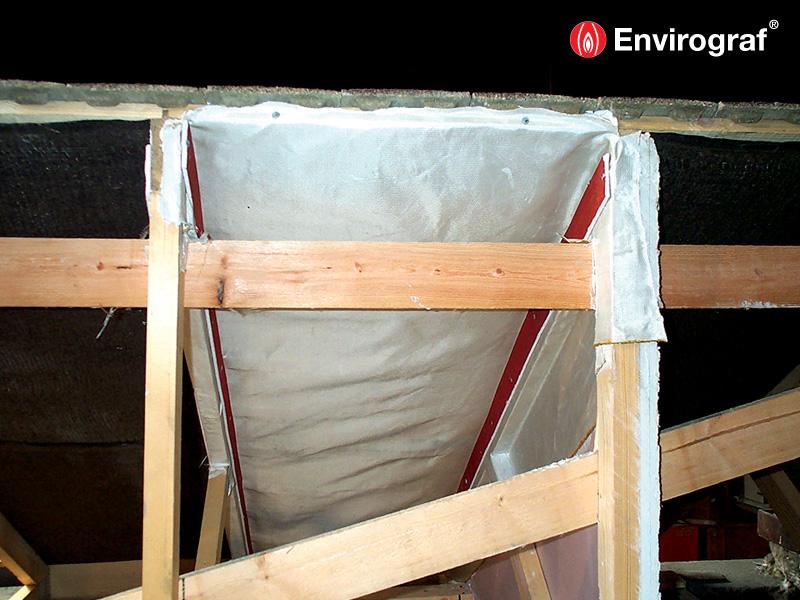 Fire Barrier Install : Internal roof fire break barrier envirograf