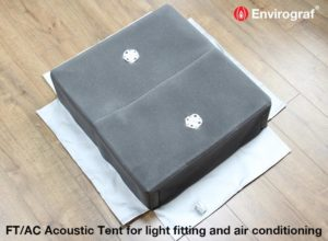 Acoustic tent for air con