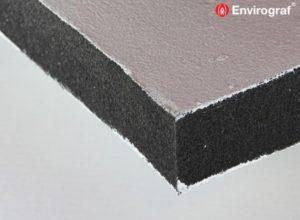 Intumescent coated slab