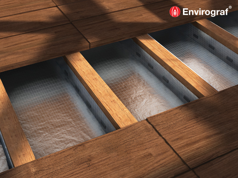 Under Floor Fire Barrier And Acoustic Barrier Envirograf