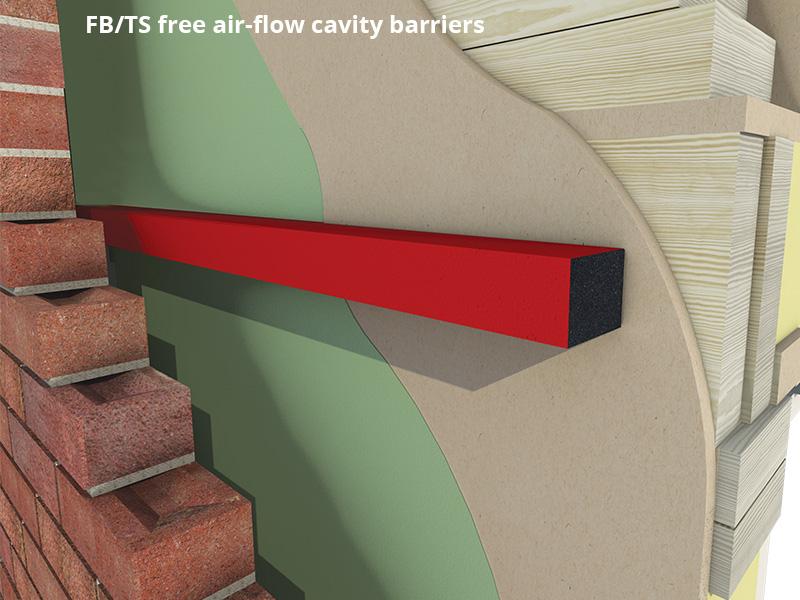 Fire Barrier Install : Timber frame cavity barrier range envirograf