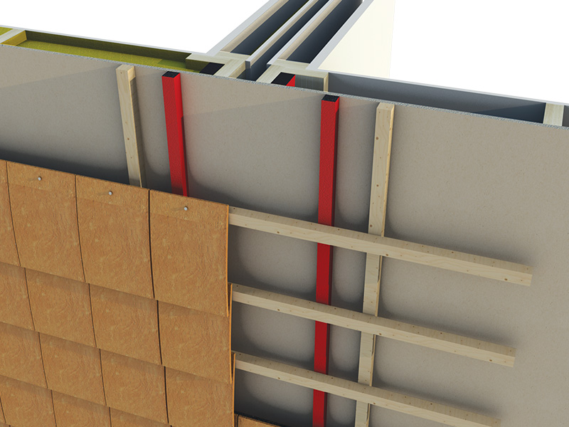 Timber frame cavity barrier range envirograf for Fireproof vapor barrier