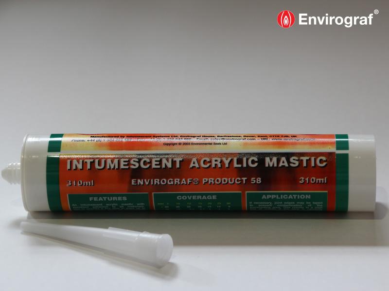 Fireproof Mortar Caulk : Intumescent acrylic and acoustic mastic envirograf