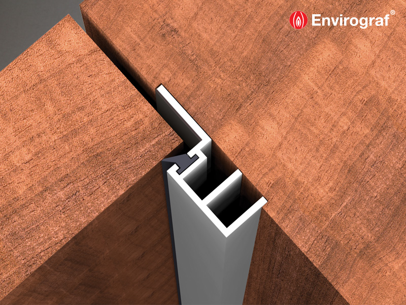 Intumescent Door Stop For Fire And Smoke Protection