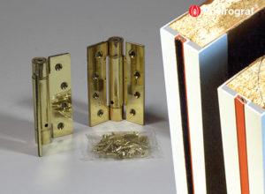 Fire door edging, hinges and locks