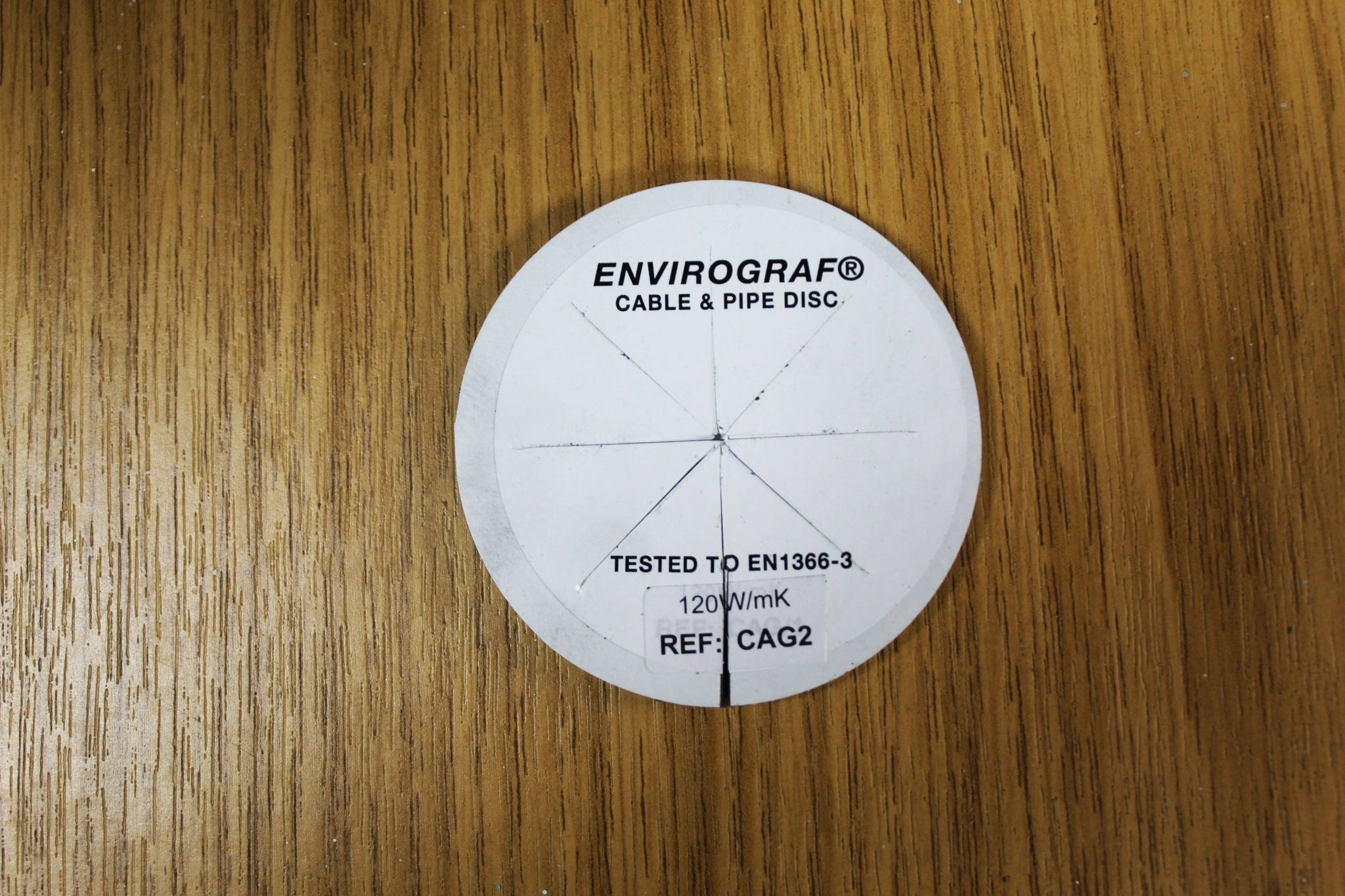 Cable & Pipe intumescent disc - Envirograf